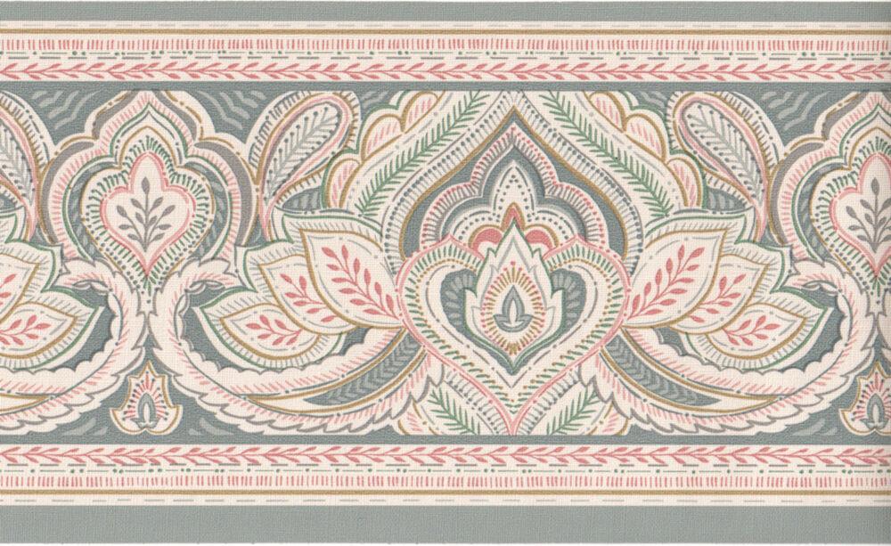 Details About Victorian Paisley Jacobean Slate Blue - Motif , HD Wallpaper & Backgrounds