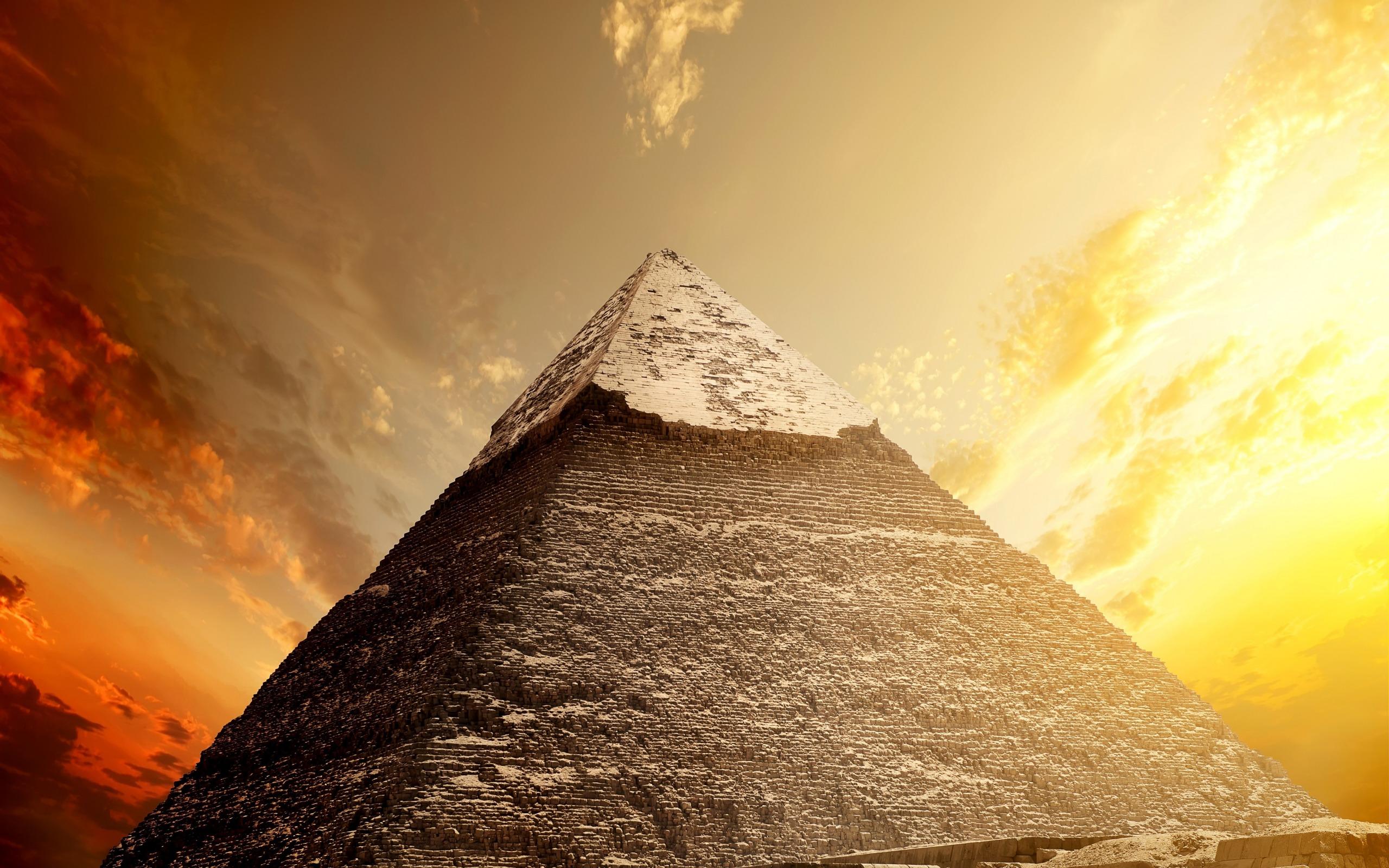 Egyptian Pyramids Cairo Egypt Desert Sand Sunset