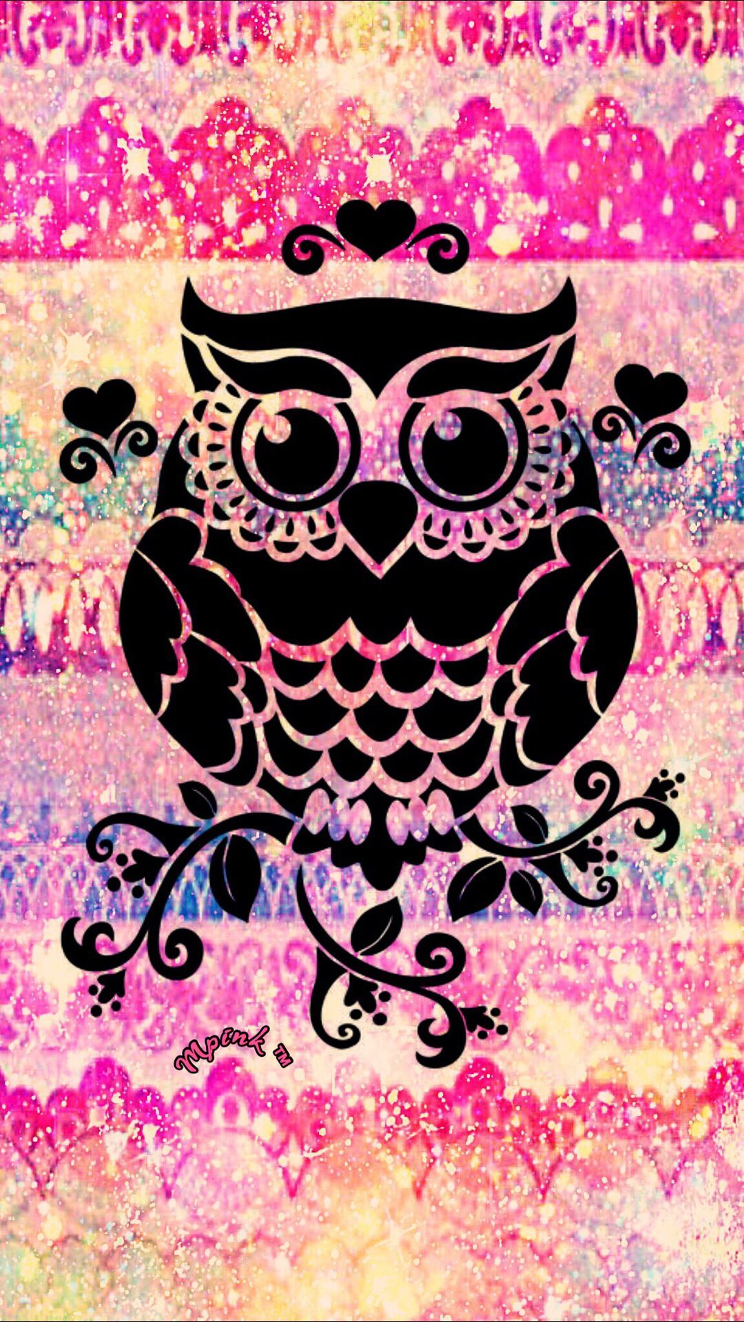 Gallery For Cute Pink Owl Wallpapers Desktop Background Mandala