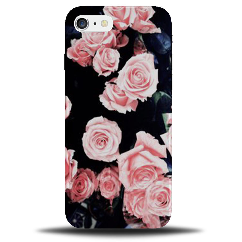 Details About Black With Rose Gold Roses Wallpaper Iphone