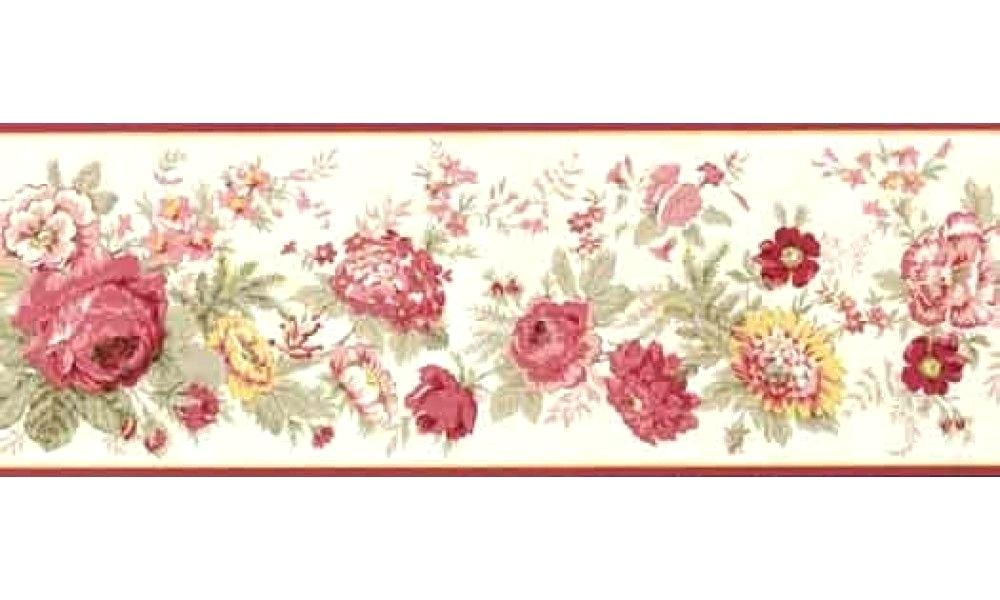 Rose Wall Border Floral Borders Red Rose Wallpaper - Borders With Roses And Peonies , HD Wallpaper & Backgrounds