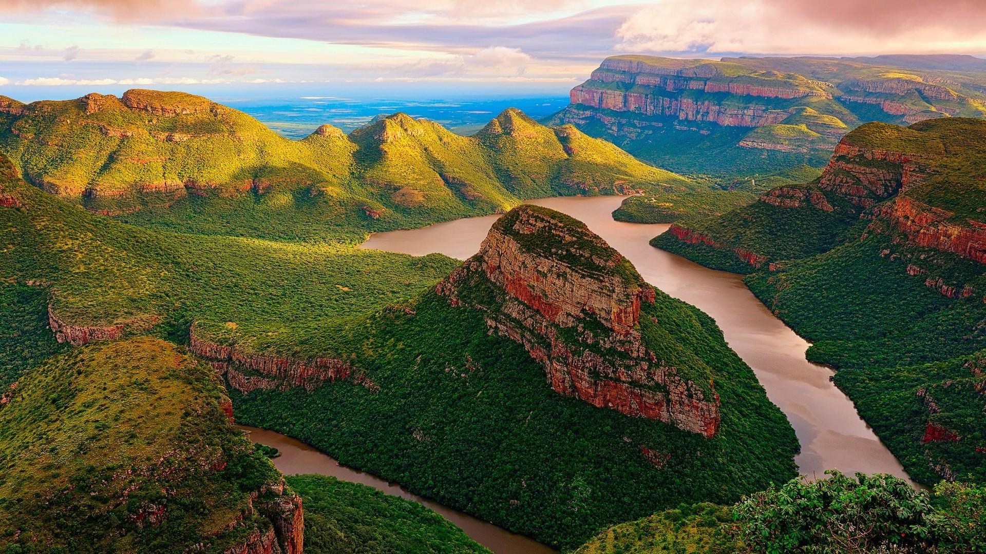 Nature, Landscape, Mountain, Trees, Clouds, Bird's - High Res River Wallpaper Bird's Eye View , HD Wallpaper & Backgrounds