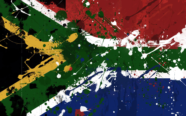 South African Flag Hd Wallpaper - South Africa Flag Art , HD Wallpaper & Backgrounds
