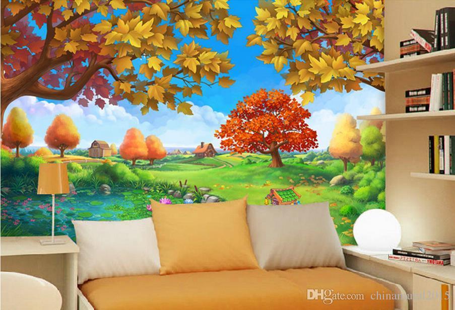 3d Wall Murals Wallpaper For Kids Room Forest Castle Children Room Ideas 2050486 Hd Wallpaper Backgrounds Download