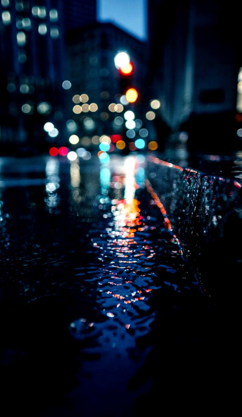 Wallpaper For Android And Iphone Rain City Light Wallpapers