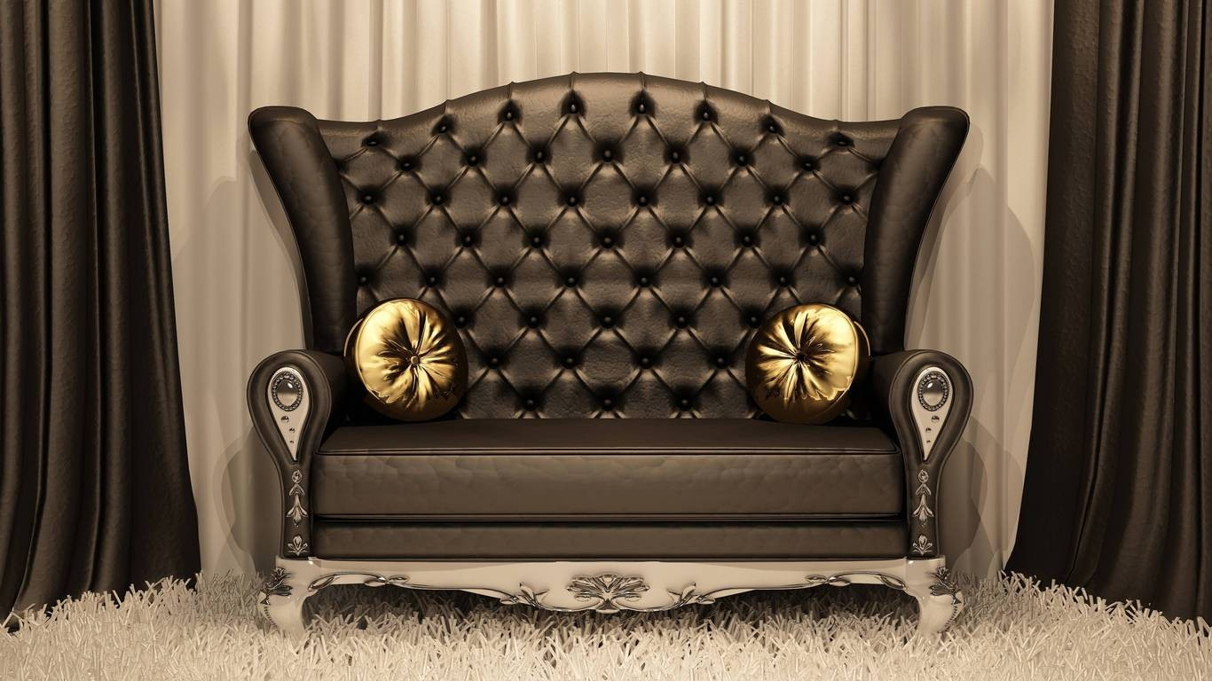 Come Sit Pillows Beautiful Chocolate Brown Chair Royal - High Back Sofa Designs , HD Wallpaper & Backgrounds