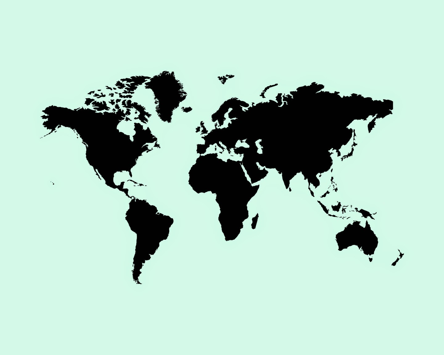 Amazing Mint Green Wallpaper Vector Free World Map Psd 2052771