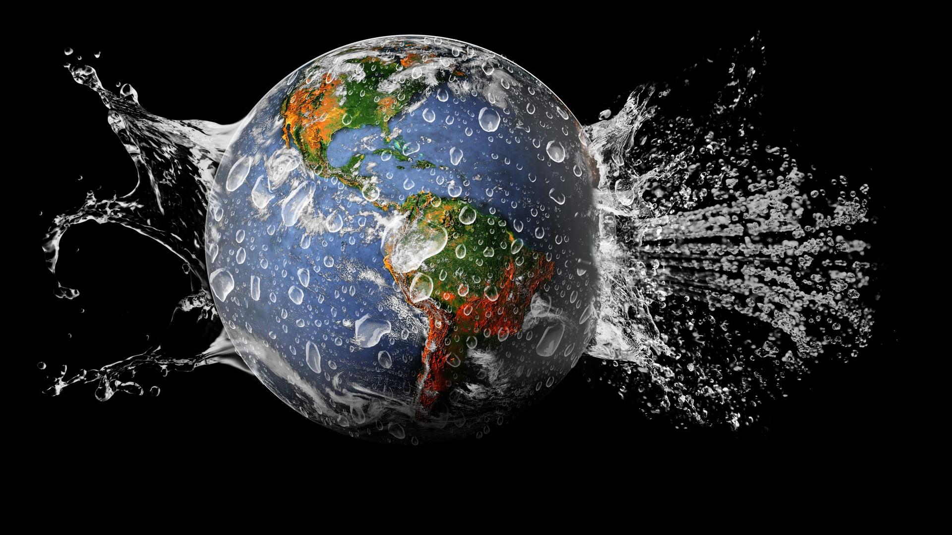 Wallpaper Globe Earth Splash Water Fluid Workforce 2053200 Hd Wallpaper Backgrounds Download