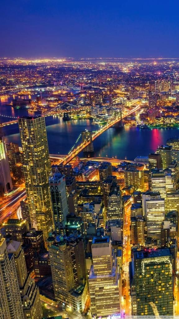 Iphone X 4k Wallpapers New York City Manhattan At Night New York 4k Wallpaper Iphone 2054450 Hd Wallpaper Backgrounds Download