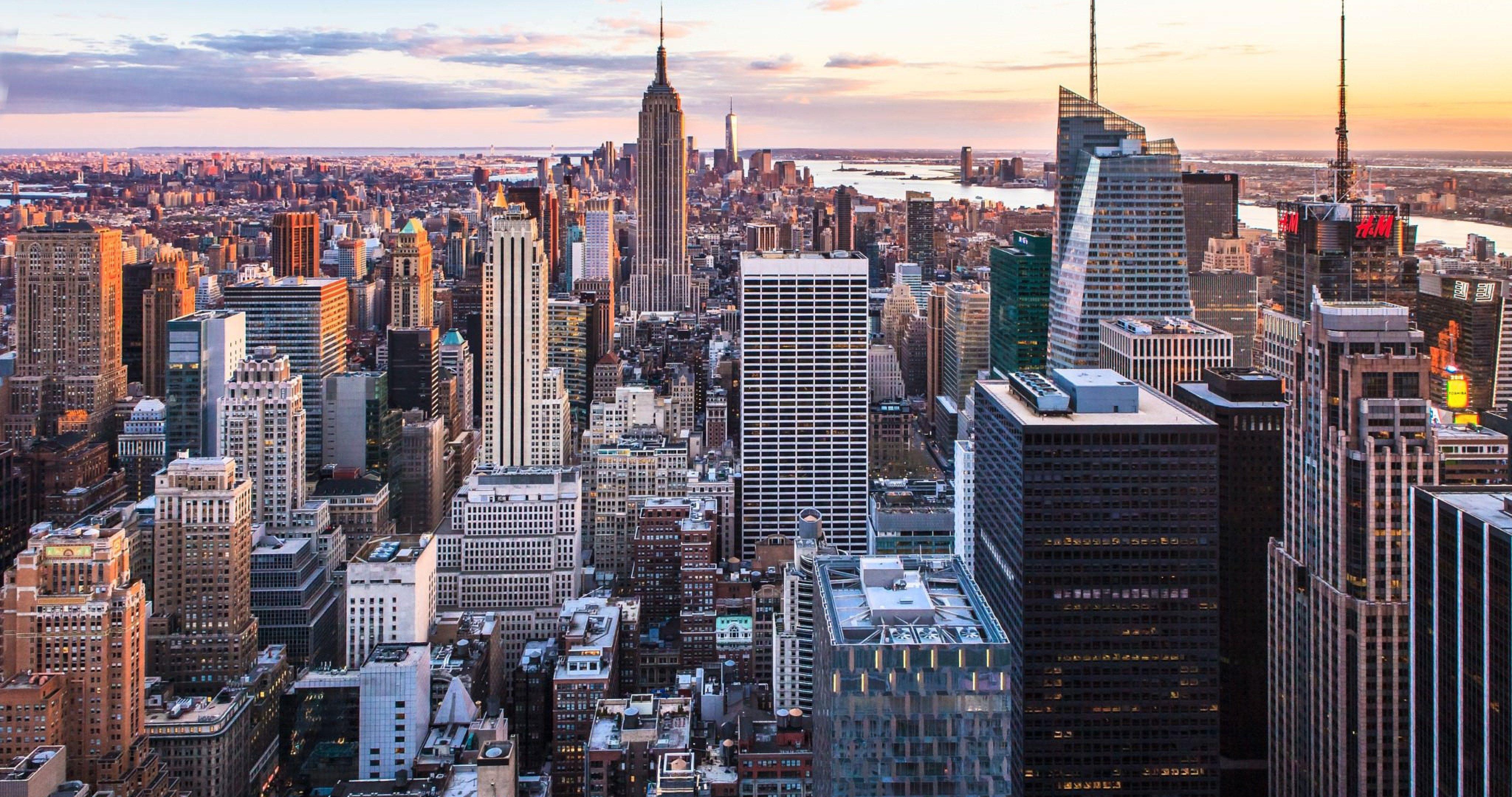 New York City Sunset Hd 4k Ultra Hd Wallpaper - New York City , HD Wallpaper & Backgrounds