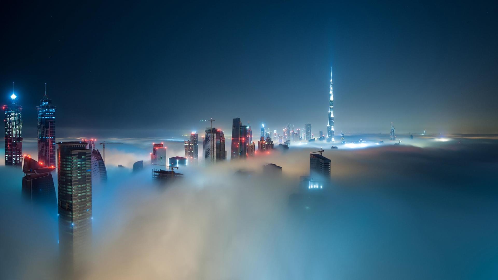 Load 83 More Imagesgrid View - Dubai At Night Fog , HD Wallpaper & Backgrounds