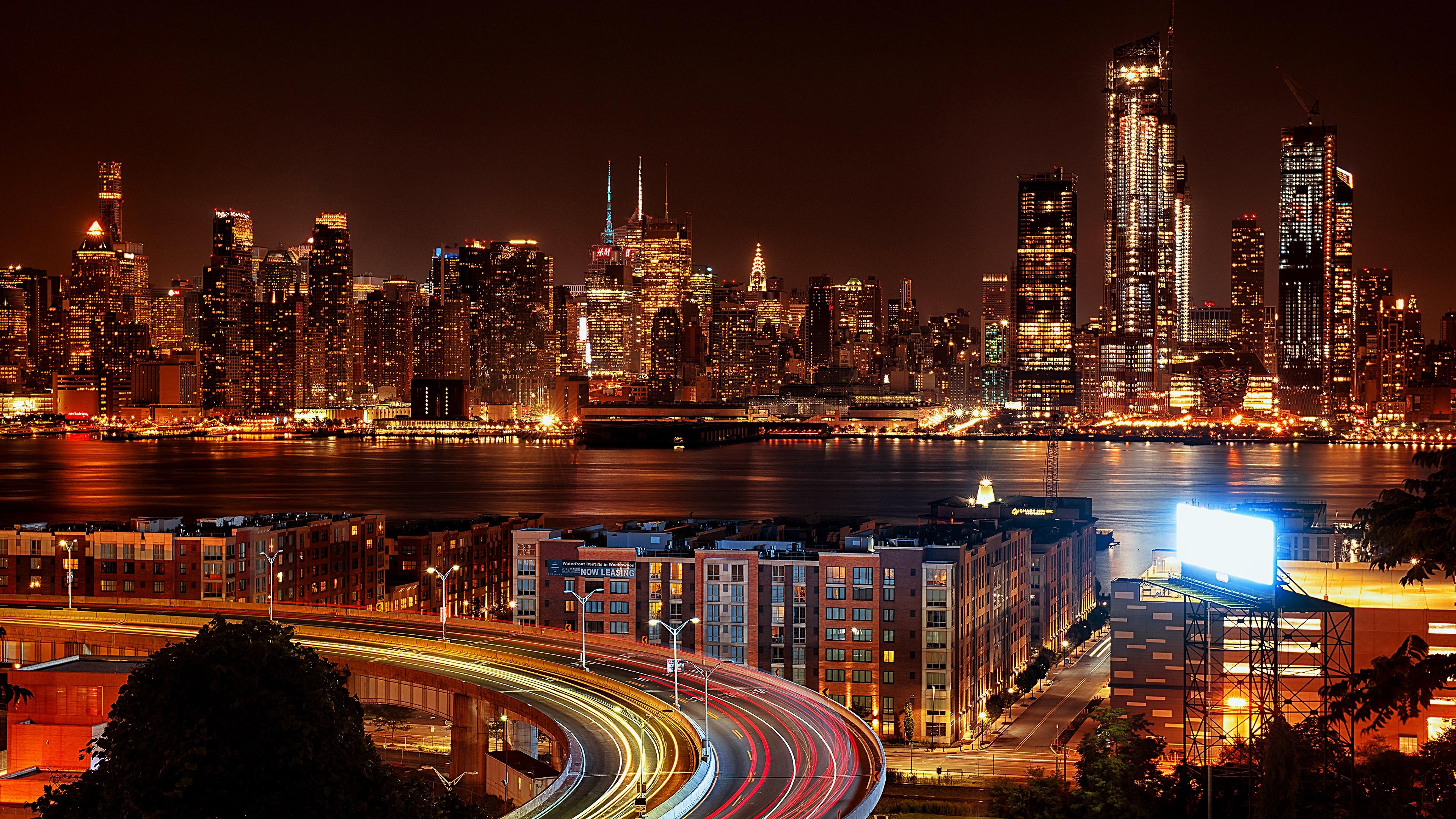 Landscape Portrait - New York City Night View Hd , HD Wallpaper & Backgrounds
