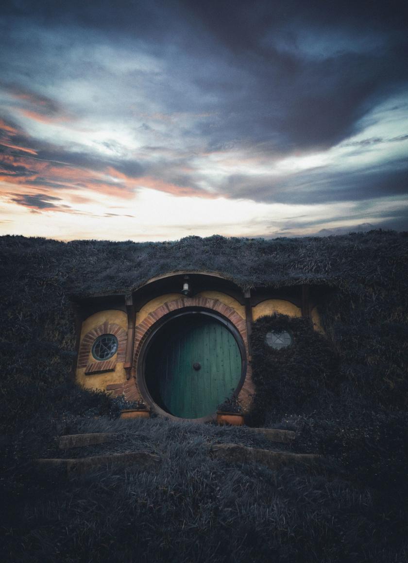 House The Hobbit Movie Set New Zealand Wallpaper
