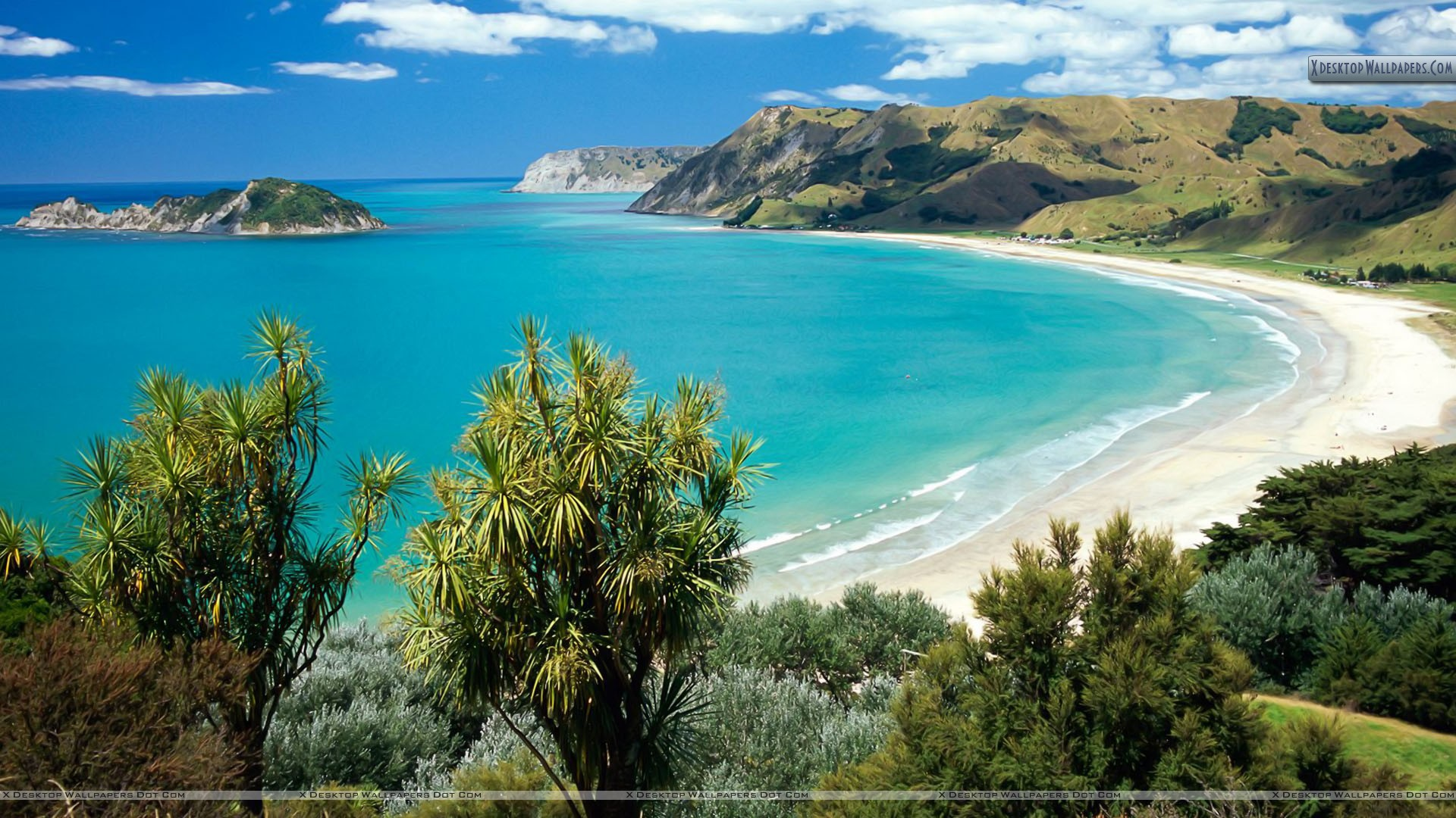 You Are Viewing Wallpaper Titled Anaura Bay Gisborne - New Zealand High Resolution , HD Wallpaper & Backgrounds
