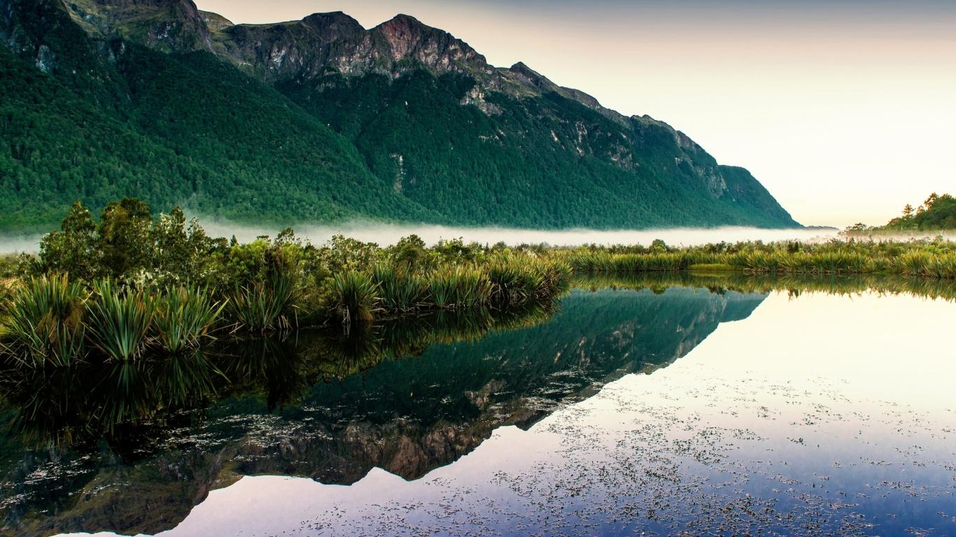 Mountain & Lake New Zealand Desktop Pc And Mac Wallpaper , HD Wallpaper & Backgrounds