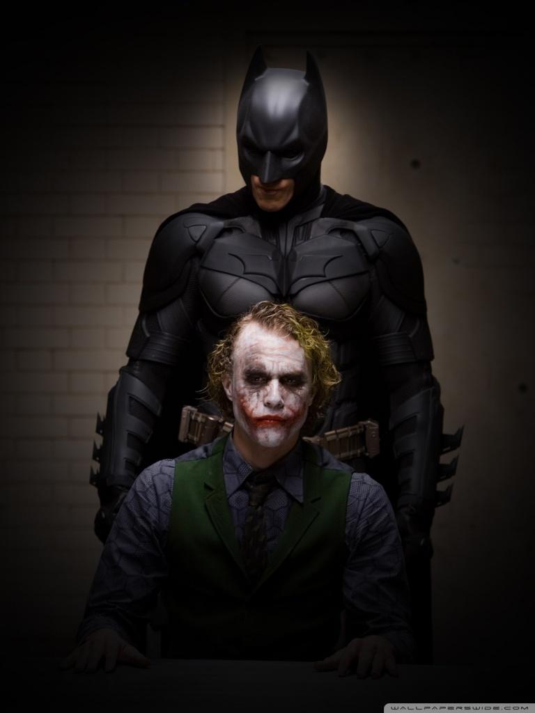 Ipad 1/2/mini - Batman And Joker Dark Knight , HD Wallpaper & Backgrounds