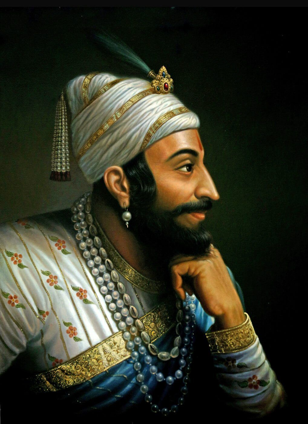 Shivaji Maharaj Painting 4 Shivaji Maharaj Painting, - Chatrapati Shivaji Maharaj Portrait , HD Wallpaper & Backgrounds