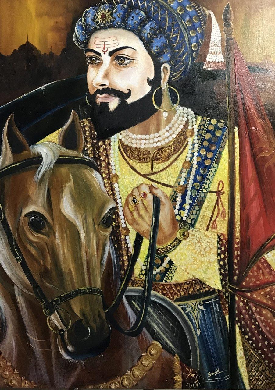 Buy Chatrapati Shivaji Maharaj Handmade Painting By - Full Hd Shivaji Maharaj , HD Wallpaper & Backgrounds