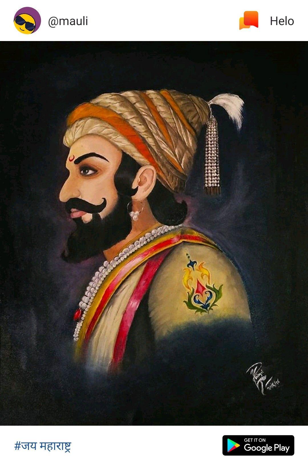 Shivaji Maharaj Hd Wallpaper, Hd Wallpapers 1080p, - Shivaji Maharaj Drawing With Colour , HD Wallpaper & Backgrounds