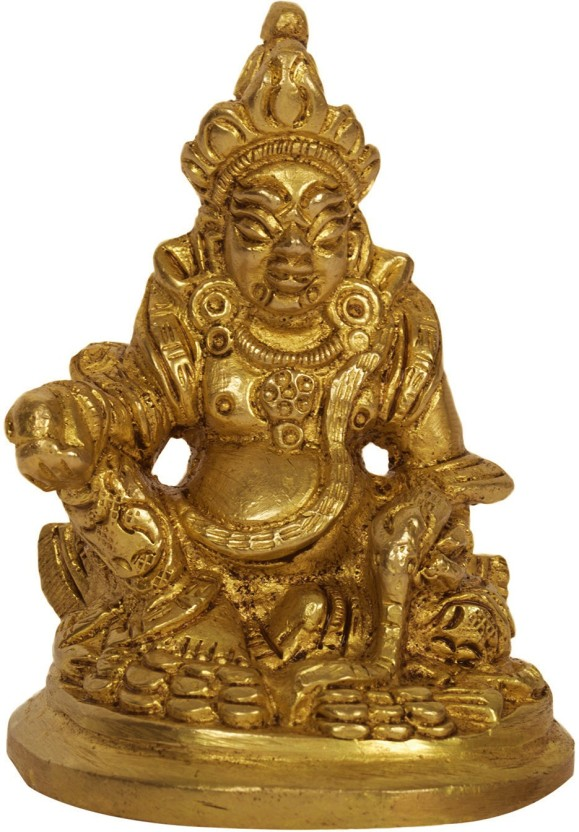 Aakrati Lord Kuber Statue Of Barss Metal Feng Shui - Statue , HD Wallpaper & Backgrounds