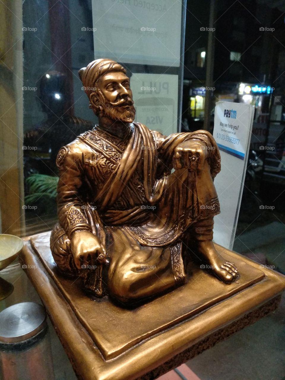 Stachu Of Chatrapati Shivaji Maharaj - Shivaji Maharaj Sitting Statue , HD Wallpaper & Backgrounds