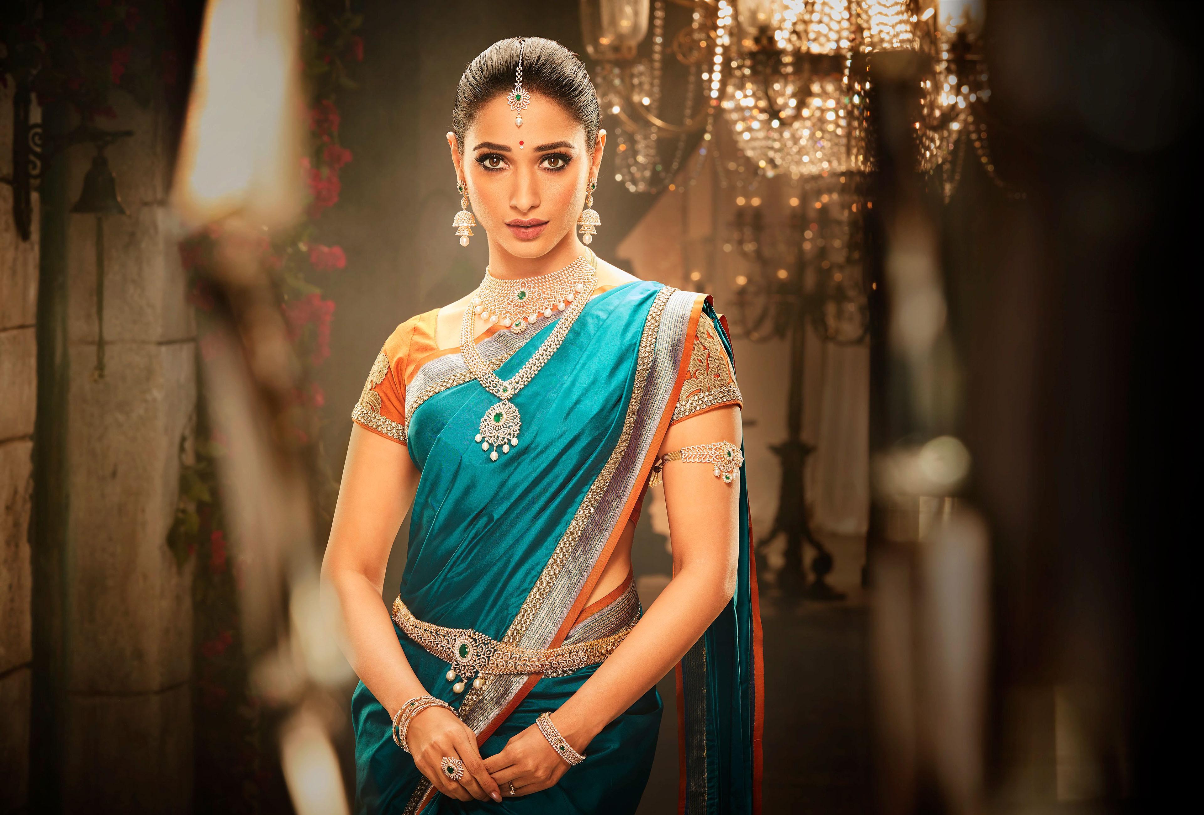 #saree, #traditional, #south Indian, #tamannaah, #ethnic - Tamanna Hd , HD Wallpaper & Backgrounds