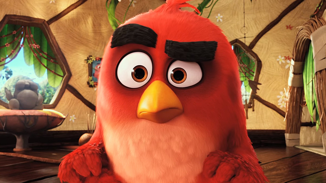 The Angry Birds Movie Clip - Angry Birds The Movie Red , HD Wallpaper & Backgrounds