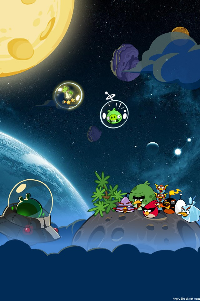 Angry Birds Space Wallpaper Iphone Sal - Angry Birds Space Bubble Pigs , HD Wallpaper & Backgrounds