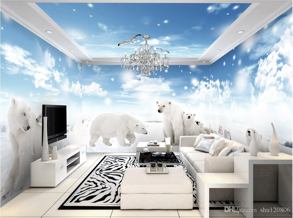 3d Wallpaper Cloth Custom Snow And Ice Polar Jual