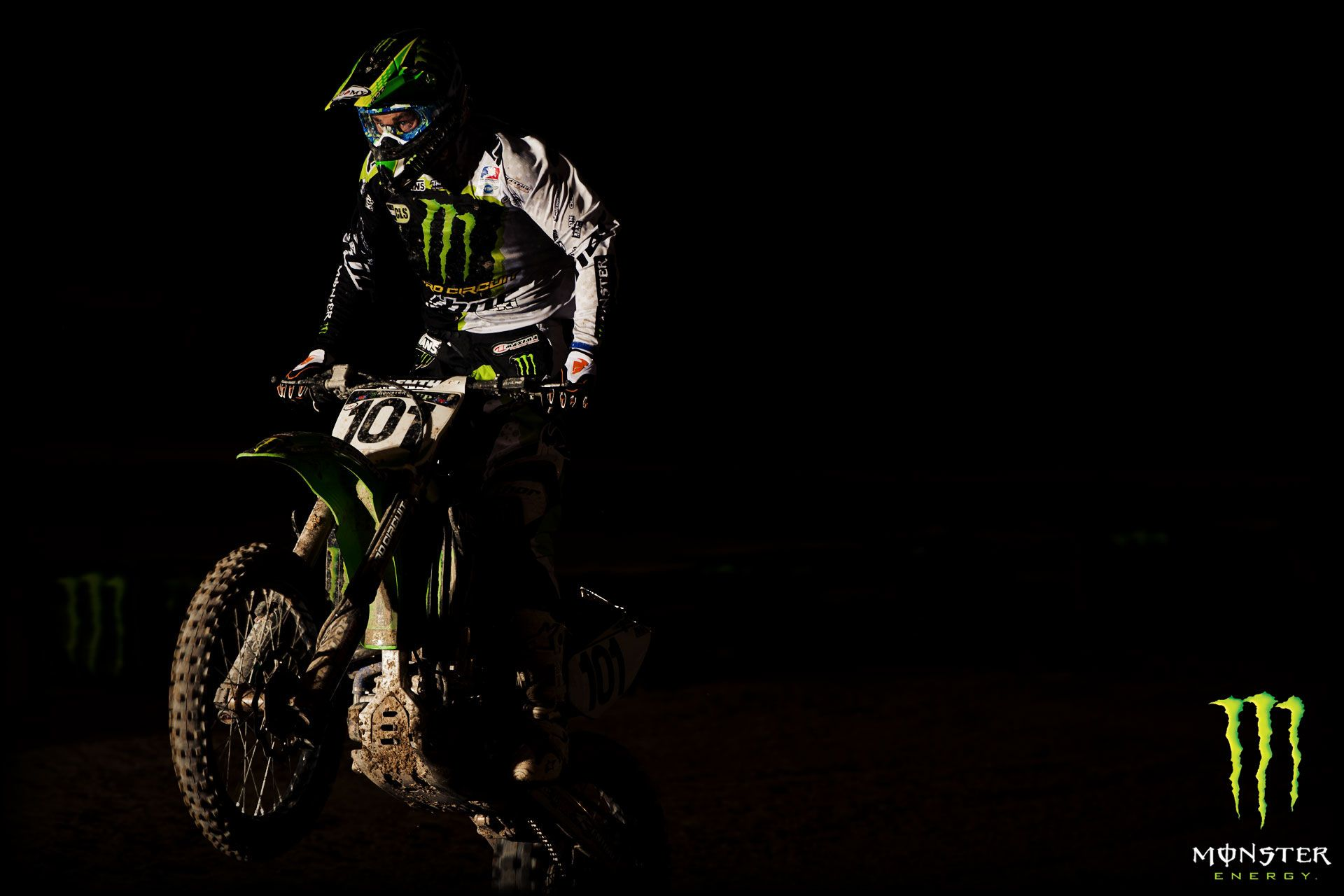 Black Motocross Monster Energy Wallpaper Wallpaper