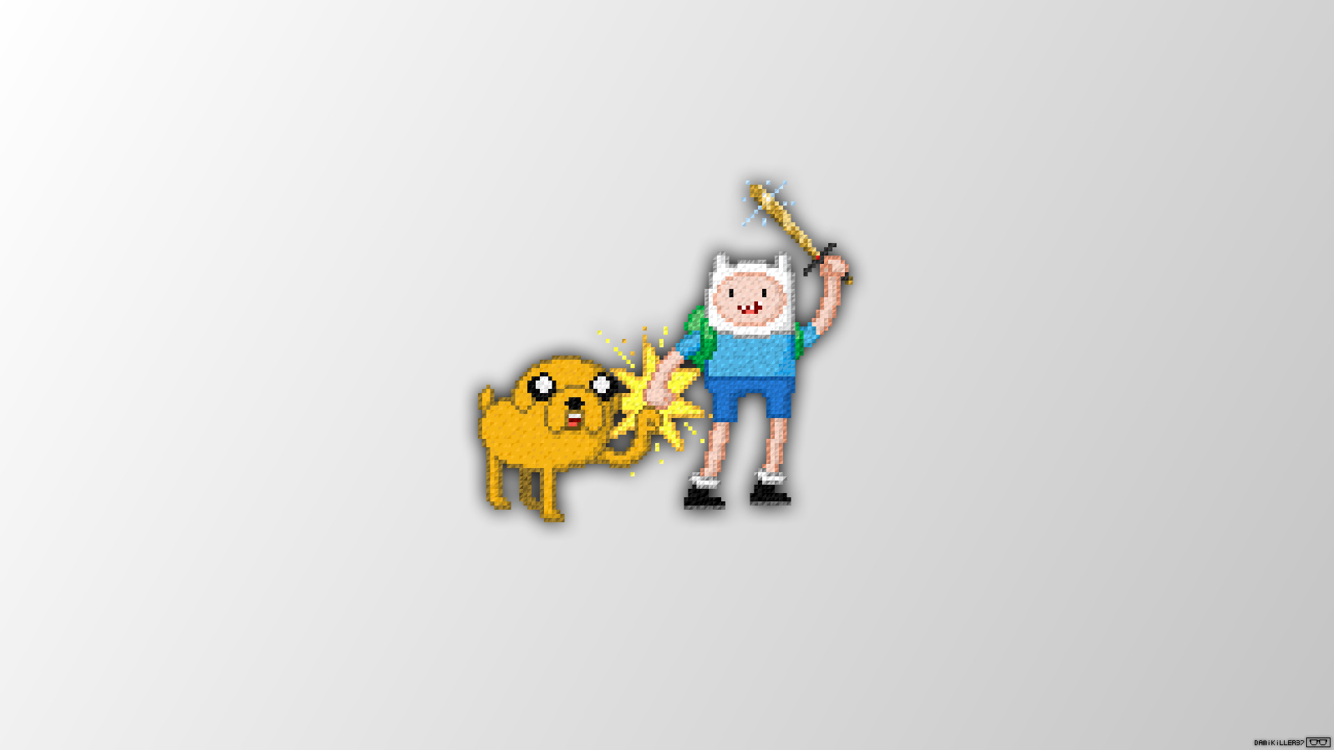 Adventure Time, Pixel Art, Trixel - Adventure Time Pixel Art , HD Wallpaper & Backgrounds