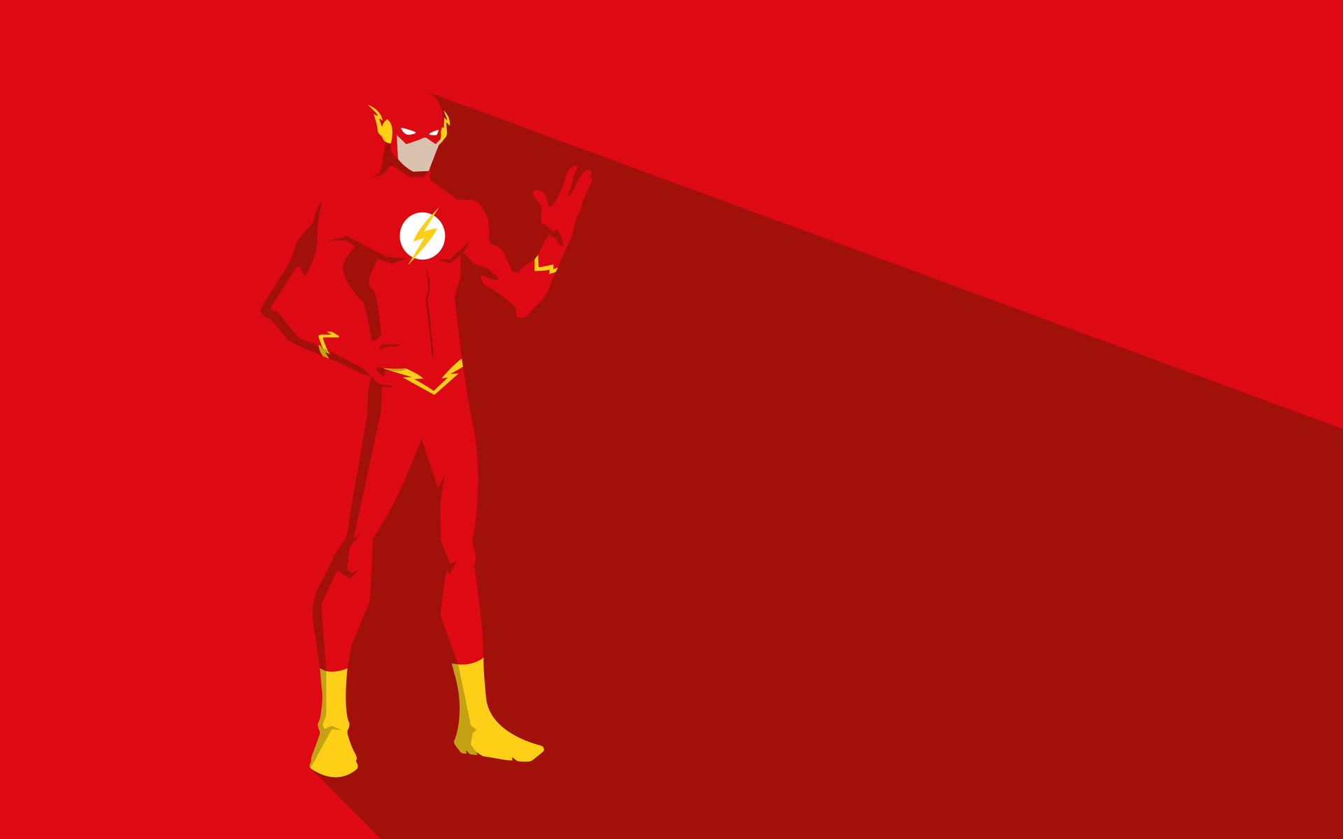 The Flash Minimal - De Super Herois Gifs , HD Wallpaper & Backgrounds