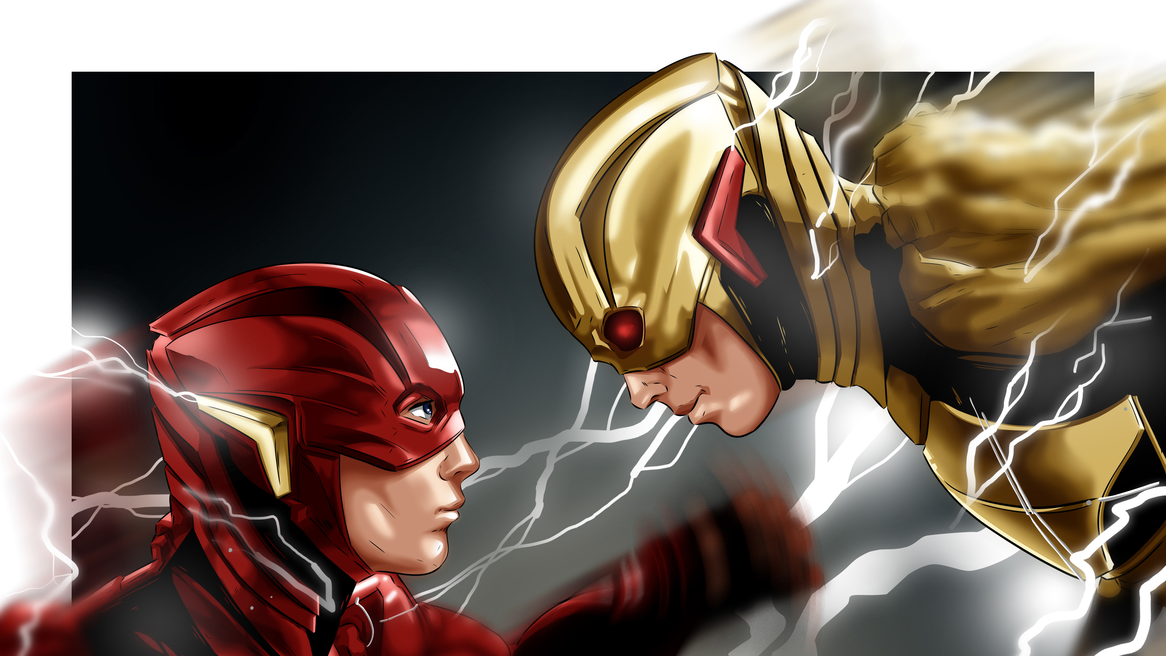 Flash Vs Reverse Flash 4k Desktop Wallpaper Reverse Flash
