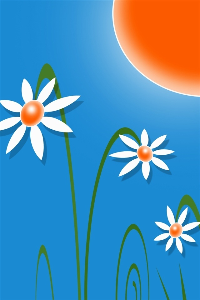 Hd Summer Flowers Iphone 4 Wallpapers Backgrounds Very