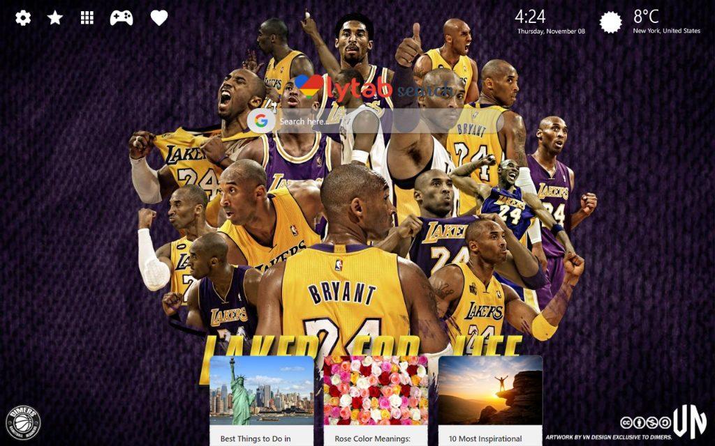 Kobe Bryant Hd Wallpapers New Tab Theme - Kobe Bryant Lebron James Lakers , HD Wallpaper & Backgrounds