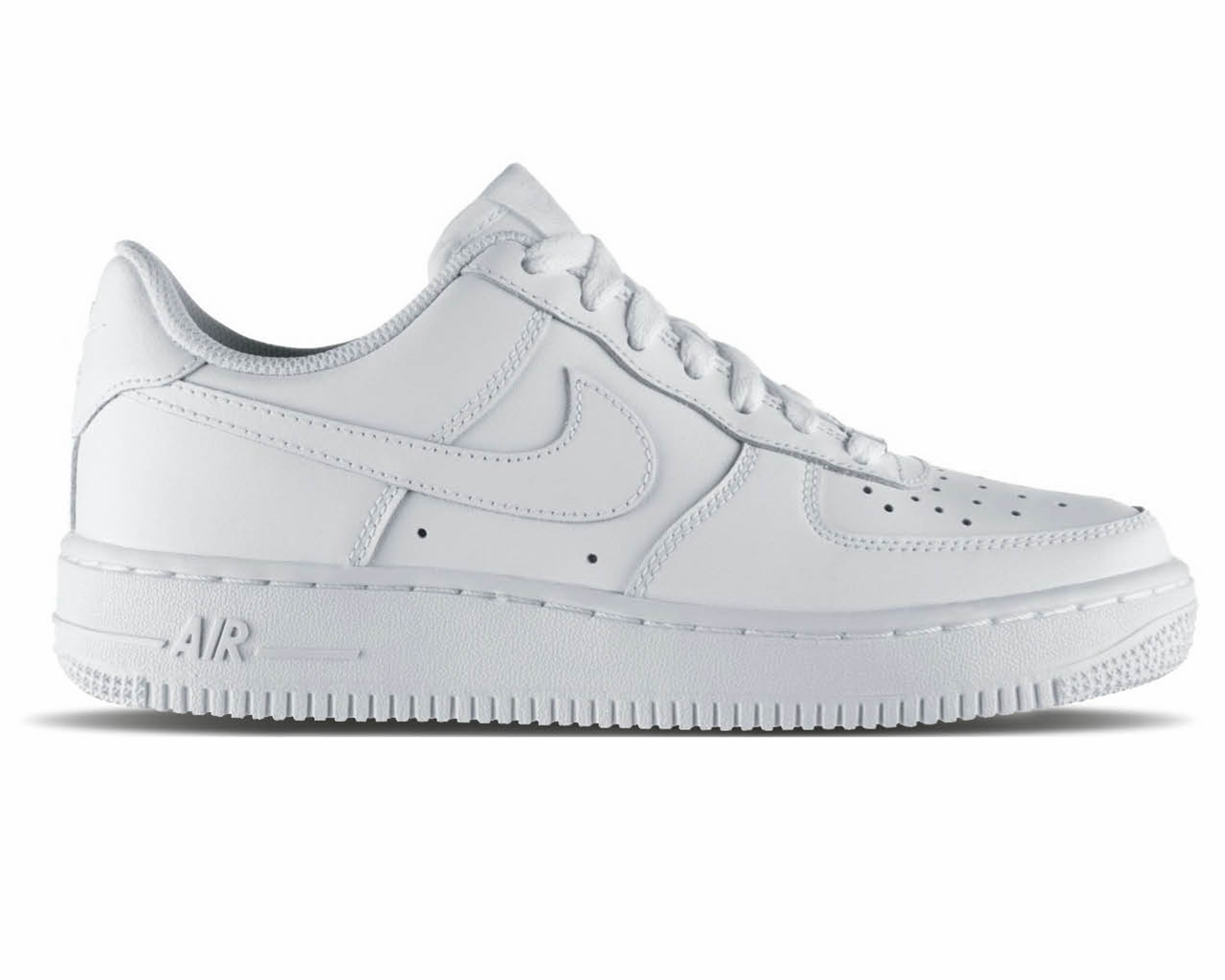 thoughts on low price high fashion Boys Girls Nike Air Force 1 Gs 314192 117 White Leather - Womens ...