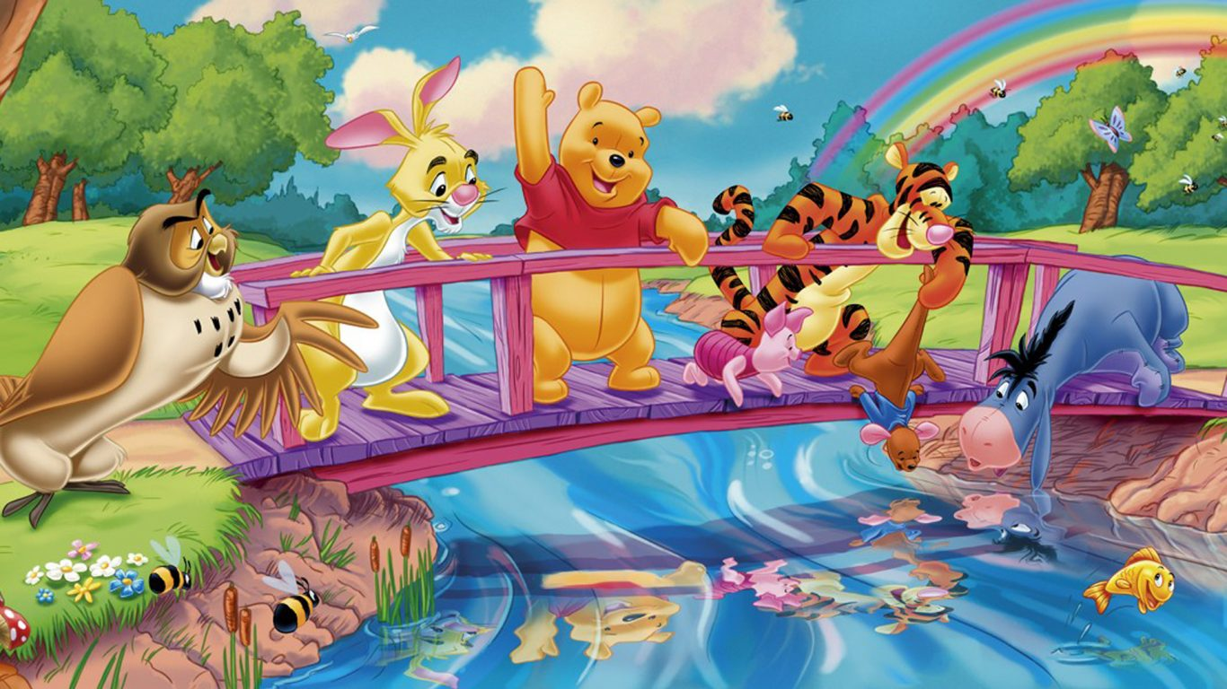 Winnie The Pooh River Background 2088854 Hd Wallpaper