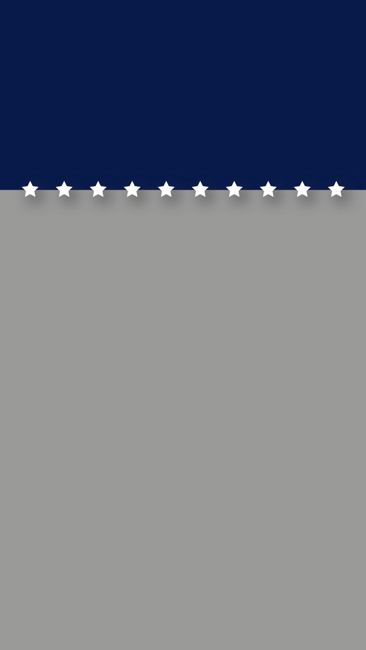 Minimal Blue And Gray With Stars Patriotic Iphone 6 - Minimal Lock Screen Iphone , HD Wallpaper & Backgrounds
