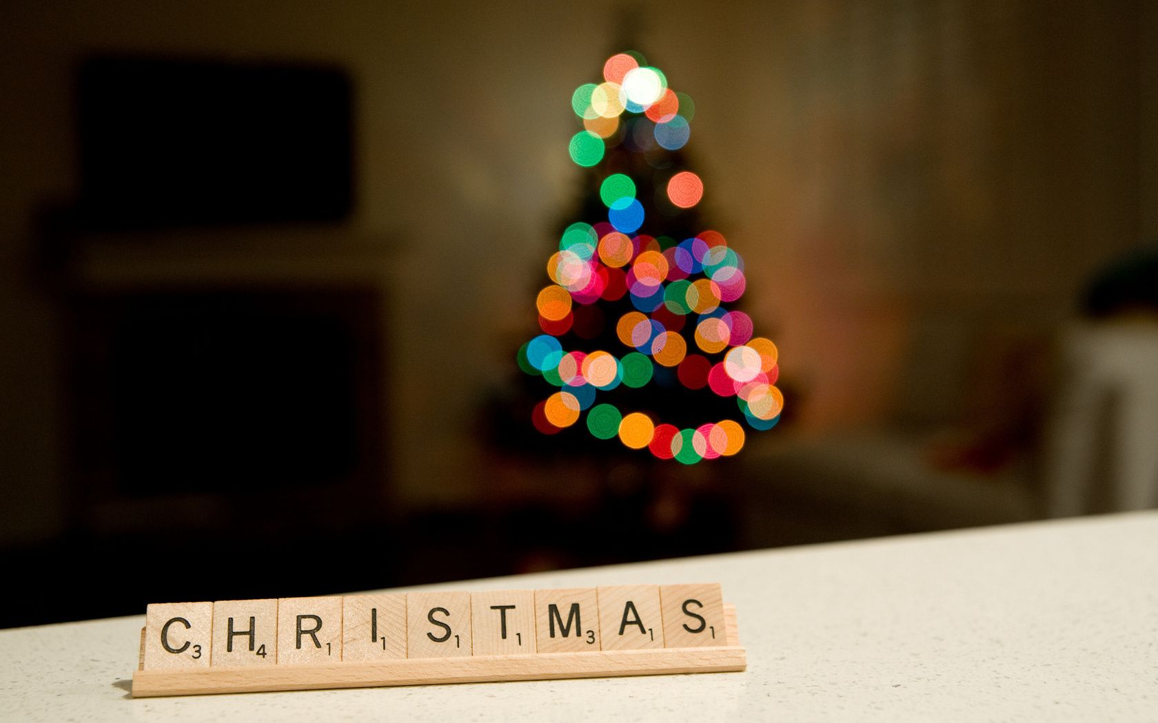 Blurry Christmas Tree Background , HD Wallpaper & Backgrounds