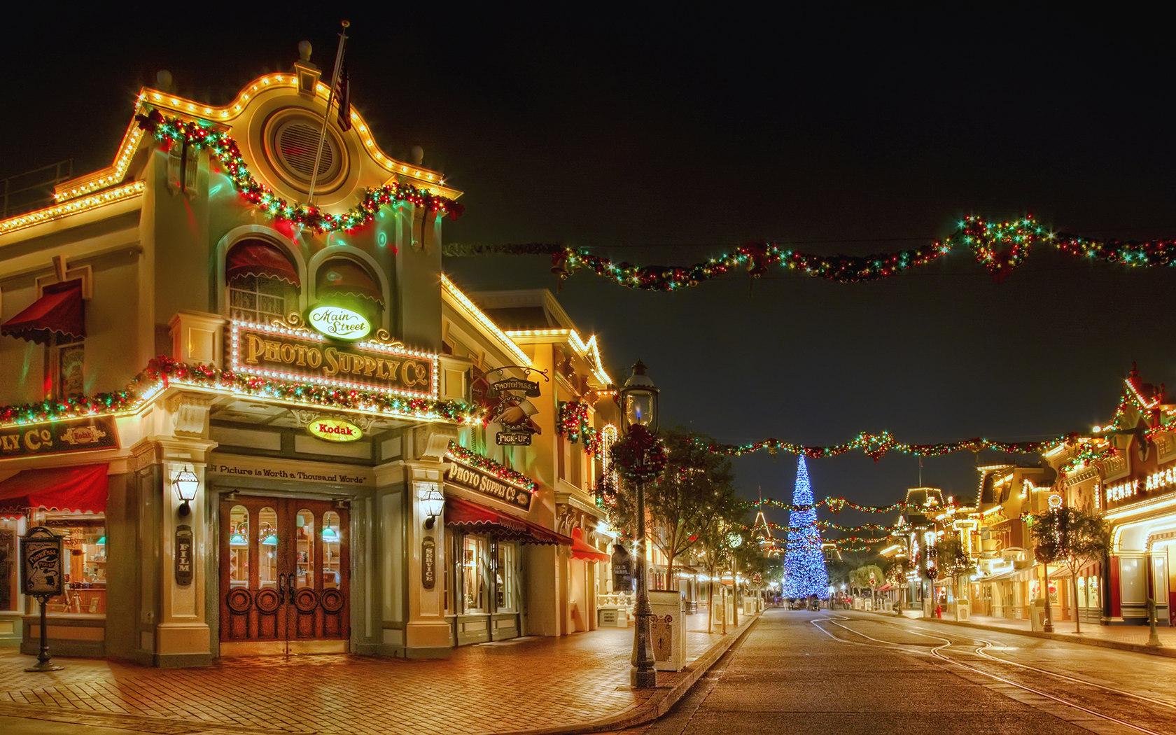 Disneyland Christmas Desktop Backgrounds , HD Wallpaper & Backgrounds