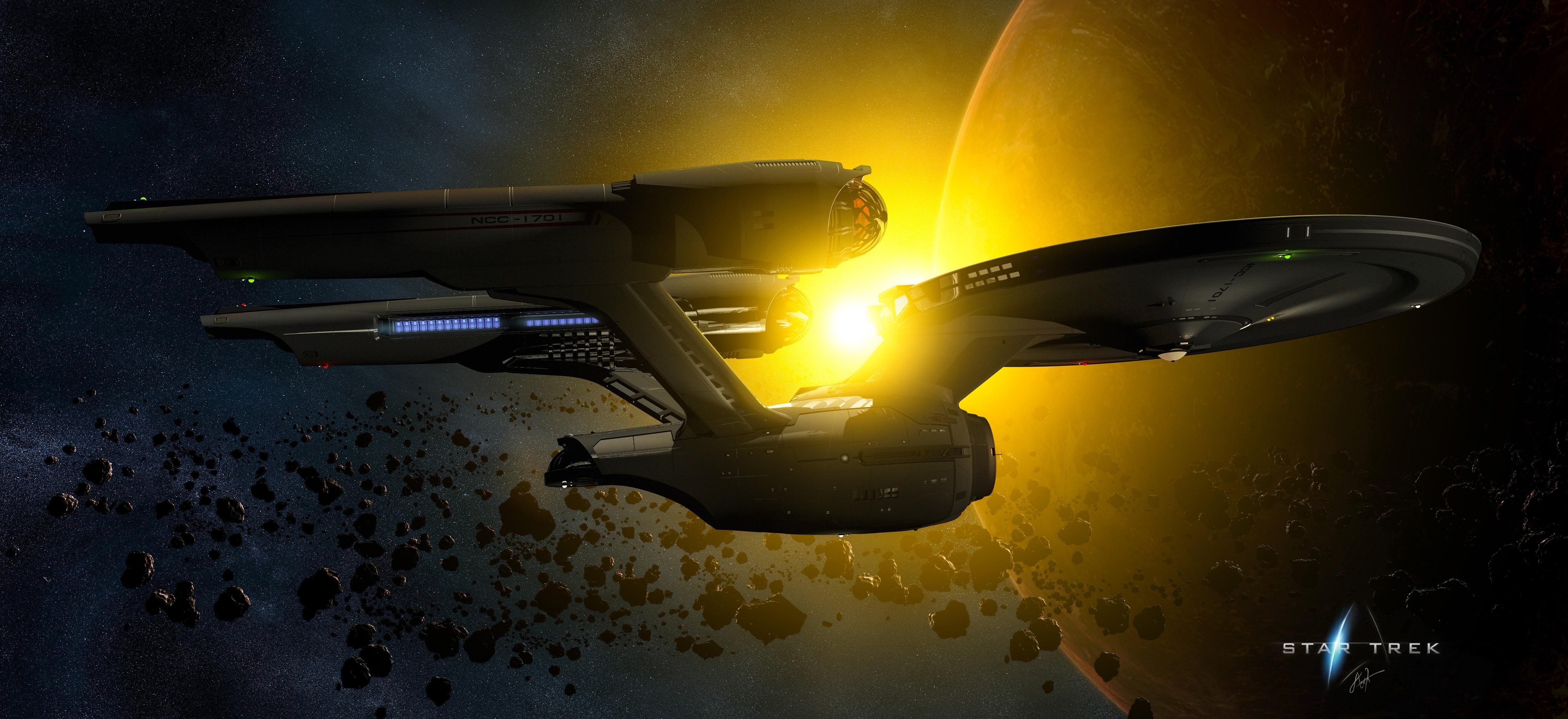 Enterprise Uss Enterprise Star Trek Tos , HD Wallpaper & Backgrounds