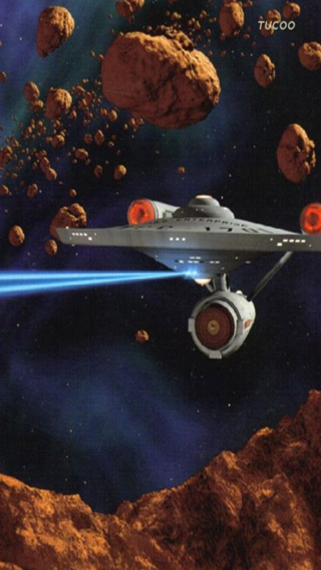 Star Trek Iphone Wallpaper Sci Fi Asteroid Mining