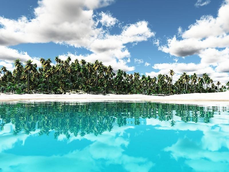 Tropical Isl Paradise Wallpaper - Tropical Island Wallpaper Desktop , HD Wallpaper & Backgrounds