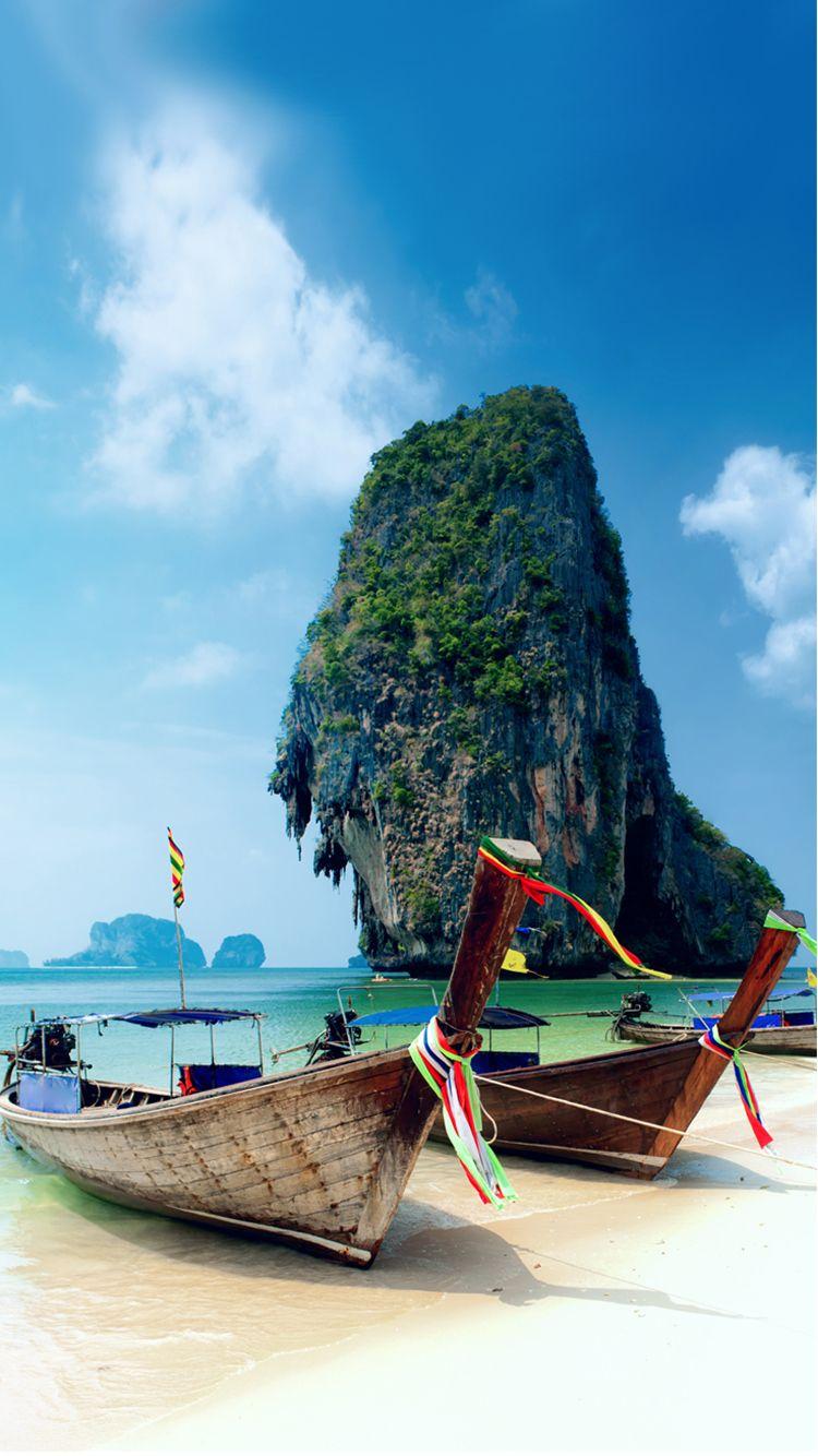 Krabi Island Thailand Beach Iphone 6 Wallpaper Thailand