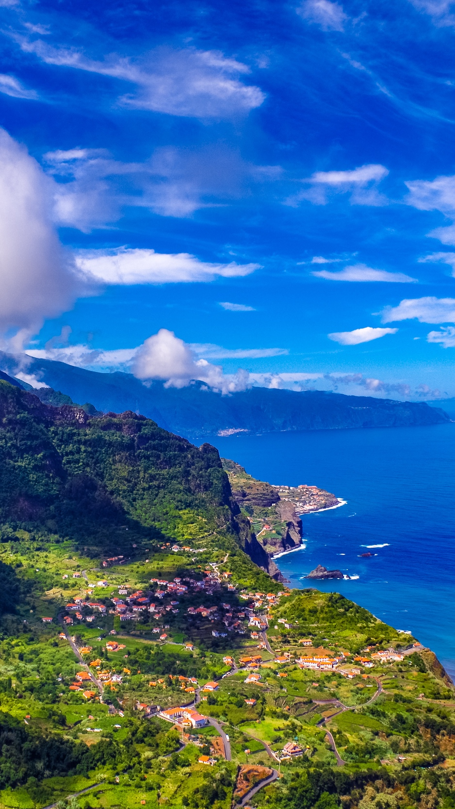 Wallpaper Madeira Portugal Island Sea Mountains