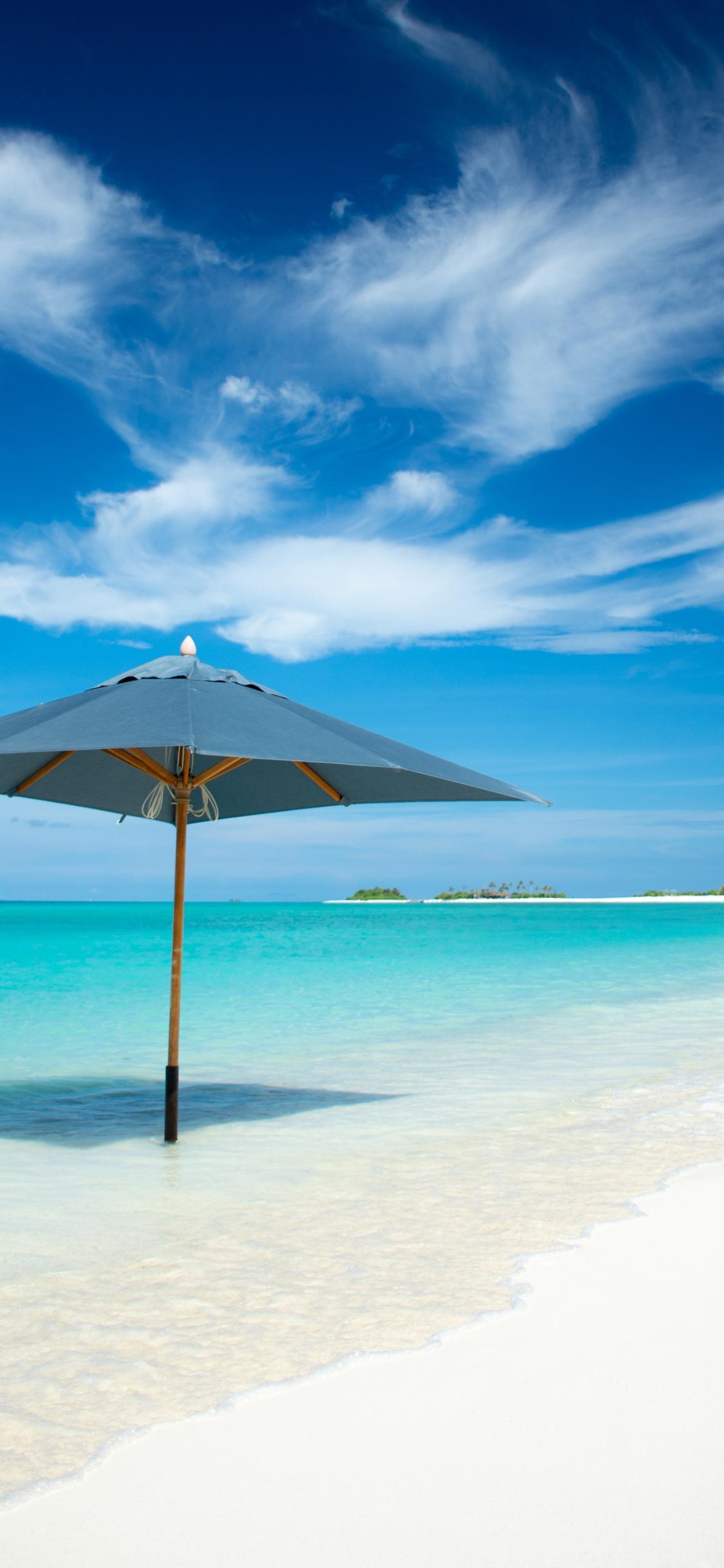 Umbrella Beach Tropical Island Summer Wallpaper Summer