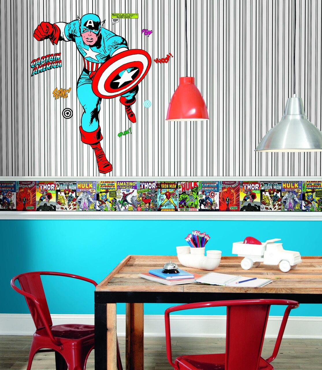 York Wallcoverings Dy0274bd Disney Kids Iii Marvel - Parato ...