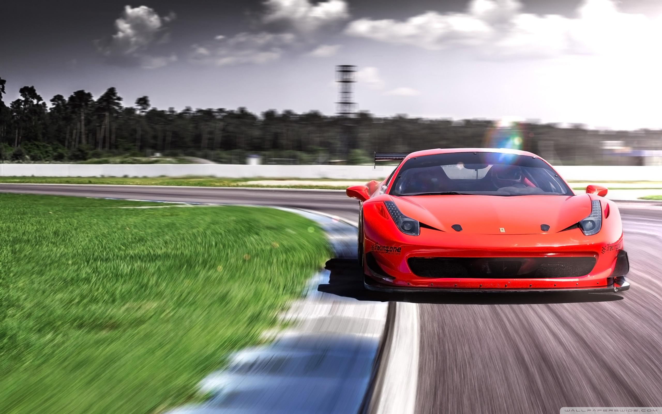 2016 Racing One Ferrari 458 Loma Wheels Hd Wide Wallpaper - Ferrari Hd Wallpapers For Desktop , HD Wallpaper & Backgrounds