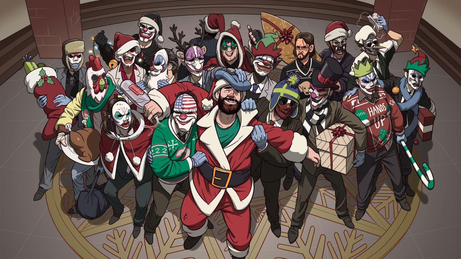 Payday 2 Christmas Party , HD Wallpaper & Backgrounds