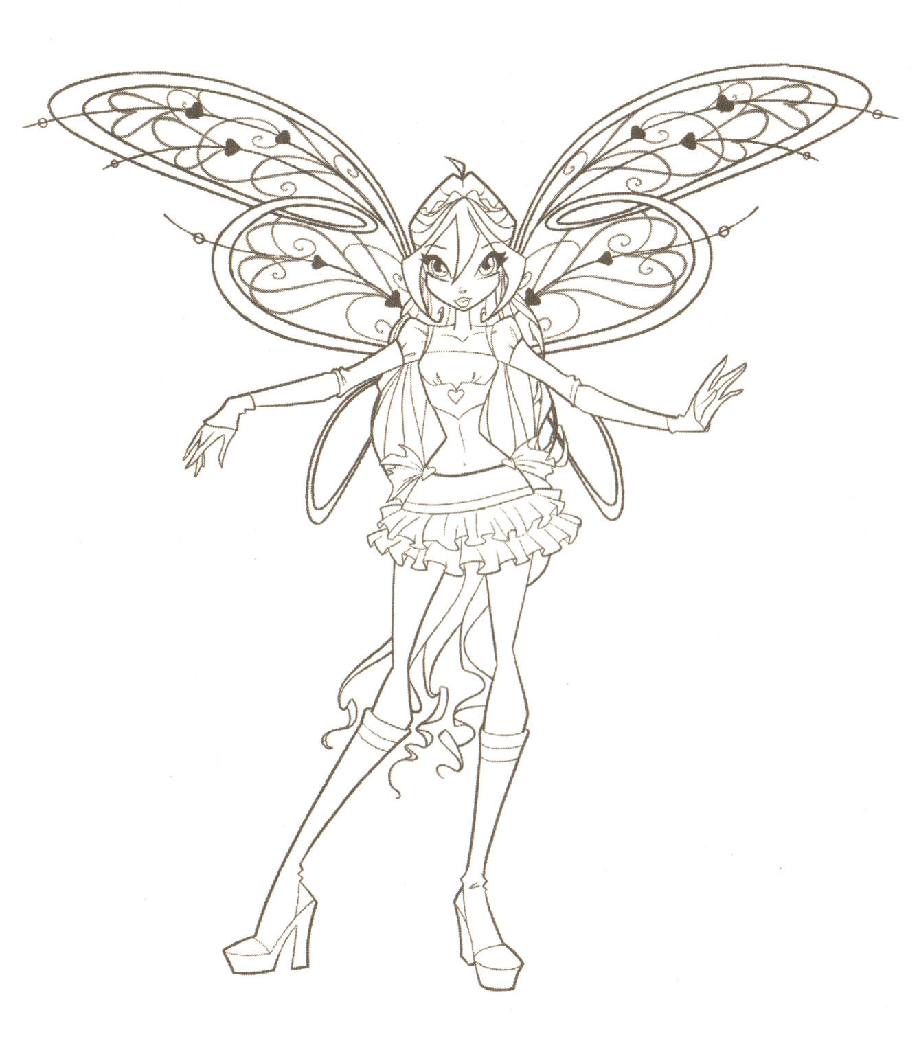 Winx Pixies Coloring Pages For Kids With Winxclub Images Winx